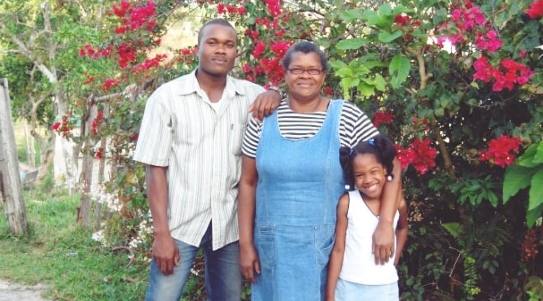 ジャマイカのホストファミリー